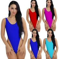 Women One Piece High Cut Thong Leotard Swimwear Swimsuit Bodysuit Monokini K7N3