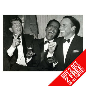 THE RAT PACK LAS VEGAS SINATRA POSTER ART PRINT A4 A3 - BUY 2 GET ANY 2 FREE