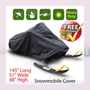 Trailerable Waterproof Outdoor Ski Snowmobile Sled Cover Full Storage Universal