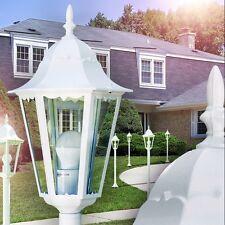 Lampadaire extérieur blanc Lanterne de jardin Lampe sur pied Lampe de sol 142330