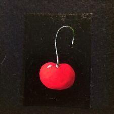 ACEO Original Painting Red Cherry Bing Fruit Foodie Kitchen Art Foodie By Artist