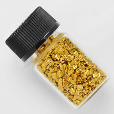 1 Gram Alaska Natural Gold Nuggets & Glass Bottle. +-0.01g.      (#B14-03496)