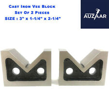 Cast Iron Vee Block Set Of 2 Pcs 3 X 1 14 X 2 14 Inch V Block Without Clamp
