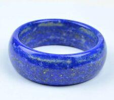 60mm Rare Natural Lapis Lazuli Gemstone Wide Bangle Bracelet