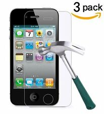 3X Premium HD Tempered Glass Film Screen Protector Guard For Apple iPhone 4S 4