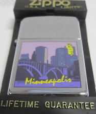Vintage Retired Unstruck Zippo Lighter - Purple Prince Minneapolis Minnesota