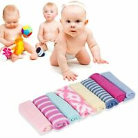 8Pcs Baby Infant Newborn Bath Towel Washcloth Bathing Feeding Wipe Cloth Soft LF