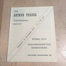 More details for friendly football programme 1972 stoke city wolverhampton wanderers wolves