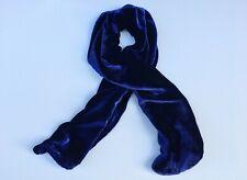 """Silk Velvet Scarf in ROYAL BLUE Handmade 12x42"""""""