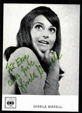 Gisela Marell Autogrammkarte Original Signiert ## BC 36015