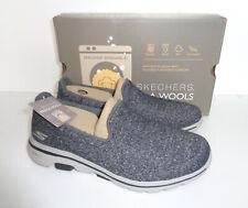 Skechers New Womens Memory Foam Go Walk 5 Charcoal Washable Trainers Sizes 4-7