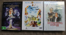 NEVERENDING STORY I, II, III FANTASIA RARE DVD DELETED CULT TRILOGY ALL 3 FILMS