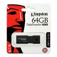 Clef usb 64go Kingston cle usb 64 go DataTraveler 100 G3 USB 3.1 / USB 3.0