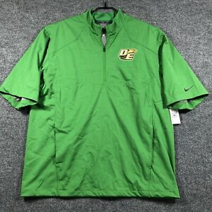 SAMPLE Nike Men's L Baseball Short Sleeve Pullover Hot Cage Jacket Green w/ Tags
