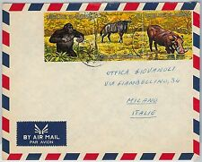 FAUNA animals - BURUNDI -  POSTAL HISTORY: Cover to ITALY 1970's