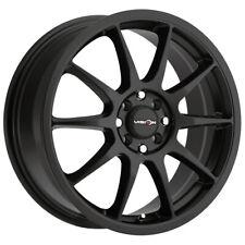 """Vision 425 Bane 16x7 4x100/4x4.5"""" +38mm Matte Black Wheel Rim 16"""" Inch"""