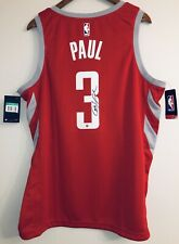Chris Paul Autograph Houston Rockets Nike Signed NBA Swingman 52 Jersey STEINER