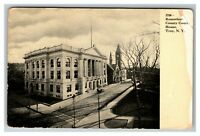 Vintage View of Rensselaer County Court House, Troy NY c1910 Postcard K7