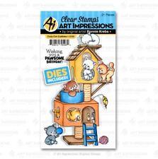 Art Impressions Stamp & Die Set ~ COZY CAT CUBBIES  Kittens, Pets -5098