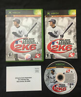 Major League Baseball 2K6 — Complete! Fast Shipping! (Microsoft Xbox, 2006) MLB