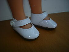 Chaussures vernies blanche pour poupée les chéries corolle camille