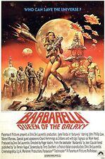 "BARBARELLA Silk Fabric Movie Poster 24""x36"" Jane Fonda 1968 XXX Exploitation Sex"