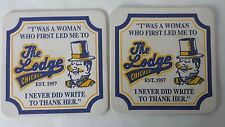Set of 2 The Lodge Chicago Illinois Souvenir Advertising Drink Coasters