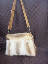 BAG FROM REAL GENUINE  LEATHER SHEEP REAL FUR MINK VISON FAST SHIPPING 5-1O DAYS