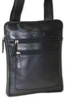 Rimbaldi® Umhängetasche / Messenger aus feinem, naturbelassenem Leder in schwarz