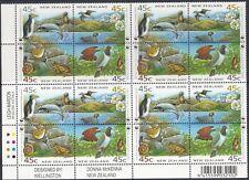 New Zealand 1991 Endangered Species Conservation block of 4 MNH CV £13.60