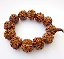 20mm Rudraksha Bodhi Seed Tibet Buddhist Prayer Beads Mala Bracelet