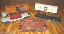 Lionel Trains 6520 Search Light, Milk 3472, Log 3461, Caboose 6457, Boxcar X3464