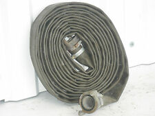 "Fire Hose,Water Pump Hose,30 foot x 1.5"",Ex army Lay Flat,Brass Couplings"