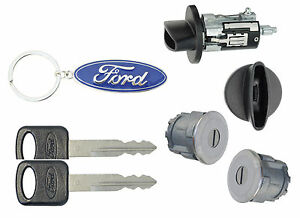 1996-2004 Ford 800 Mid Size Pickup - Ignition & 2 Door Locks with 2 Ford Keys