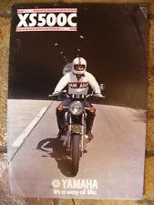 Yamaha XS500C Sales Brochure,1976 Original NOS