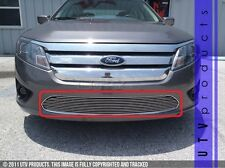 GTG 2010 - 2012 Ford Fusion 1PC Polished Overlay Bumper Billet Grille Grill