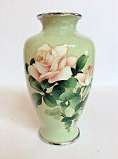 More details for superb signed ando cloisonne vase in vgc