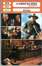 FICHE CINEMA : LE DERNIER DES GEANTS - Wayne,Bacall,Stewart 1976 - The Shootist