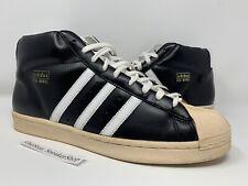 Vintage 2005 Adidas Pro Model Black Leather Retro Shoes Size 12.5 ART NO. 115946
