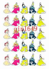 Lot 50pcs Princess Snow White Metal Charms Jewelry Making DIY pendants