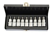 "Steckschlüssel Torx 1/2"" 9tlg Steckschlüsselsatz T20-T60 Nüsse Werkzeug FARYS"