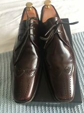 Loake Mens Brown Brogue Shoes Size UK 8 Goodyear Welted Leather Sole