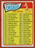1965 Topps #189 3rd Series Checklist EX-EX+ WRINKLE FREE SHIPPING