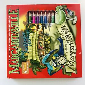 Margaritaville- Coloring Book-One Particular Harbour-12 Pencils & 40 sheets-NEW