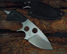 7'' New 440C Full Tang  Blade Micarta Handle Survival Hunting Knife TMH19