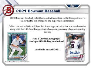 Atlanta Braves - 2021 BOWMAN MLB JUMBO 1/2 CASE BREAK