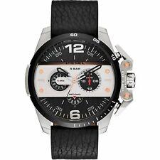 DIESEL Herrenuhr Armbanduhr DZ4361 Leder schwarz silber