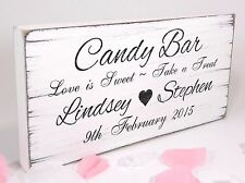 Personnalisé candy bar 1 free standing vintage mariage signe shabby mais chic