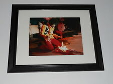 "Framed Jimi Hendrix Monterey Pop Guitar on Fire Mini-Poster, 14"" by 17"""