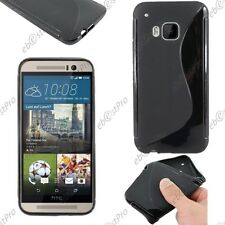 Housse Etui Coque Silicone Motif S-line Gel Souple Noir HTC One M9 One Hima